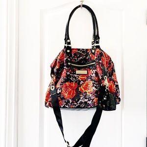 Betsey Johnson nylon black floral tote bag